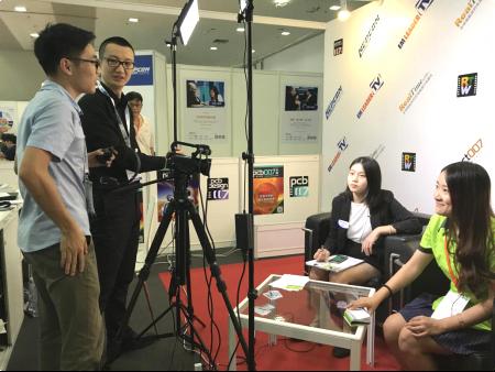 """新氧器深圳NEPCON展""""EMLEADER TV""""制造行业领袖风采频道关注"""